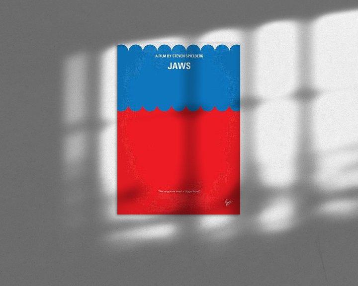 Sfeerimpressie: No046 My Jaws minimal movie poster van Chungkong Art