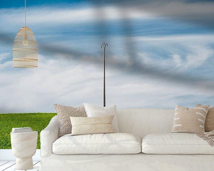 Sfeerimpressie behang: Frans akkerland van Wim Slootweg