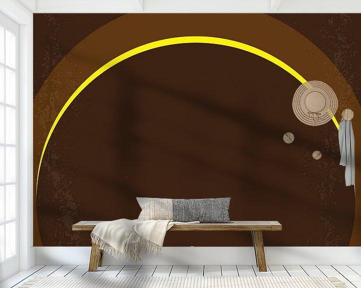 Sfeerimpressie behang: No068 My Raiders of the Lost Ark minimal movie poster van Chungkong Art