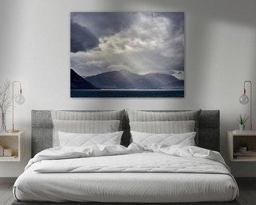 Zonnestralen over het landschap van Keith Wilson Photography
