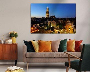 Het centrum van Utrecht met de Domtoren en de Domkerk van Donker Utrecht