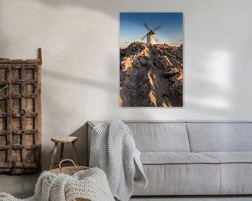 Historische Windmühle von Don Quijote, in La Mancha (Spanien). von Carlos Charlez