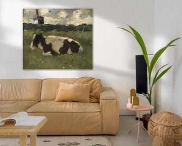 Liegende Kuh mit Mühle, Richard Nicolaüs Roland Holst