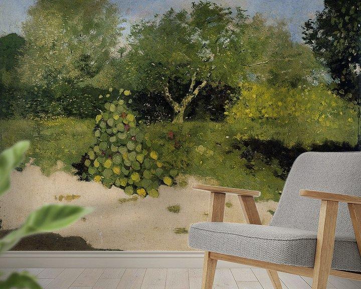Beispiel fototapete: Gartenecke mit ostindischer Kirsche, Richard Nicolaüs Roland Holst