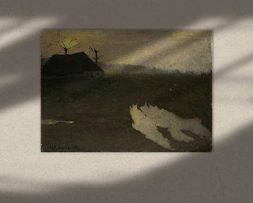 Landschaft bei Mondschein, Richard Nicolaüs Roland Holst, 1891