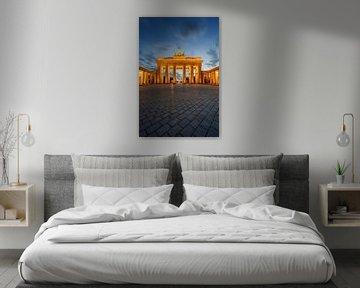 Brandenburger Tor 's nachts van Robin Oelschlegel