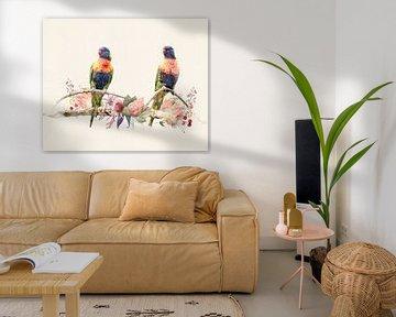 2 Regenbogenvögel von Studio Nooks