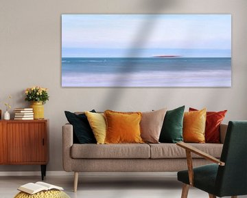 blurry sea with boat van Kay Mezarina Photography