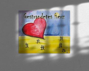 Gestrandetes Herz von Klaus Heidecker