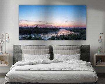 Panorama voor zonsopkomst De Onlanden in Pastels van R Smallenbroek