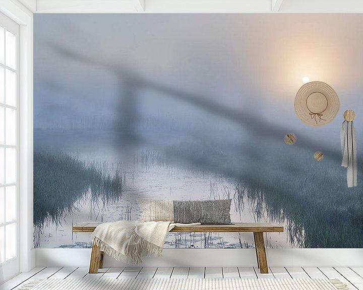 Sfeerimpressie behang: Mystiek landschap van Willemke de Bruin
