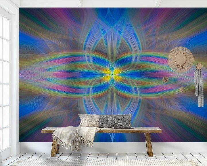 Sfeerimpressie behang: Digital abstract nr 3 van Leo Luijten
