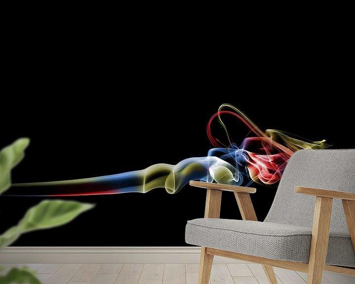 Sfeerimpressie behang: Gekleurd Wierook van Wim Slootweg