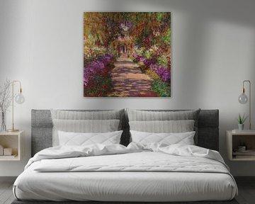 Een pad in de tuin van Monet, 1902, Claude Monet