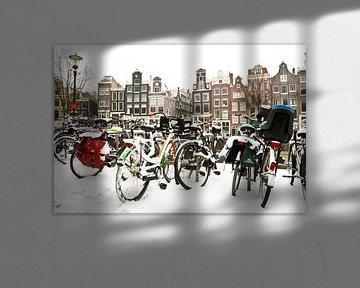 Winter auf den Grachten von Amsterdam von Nisangha Masselink