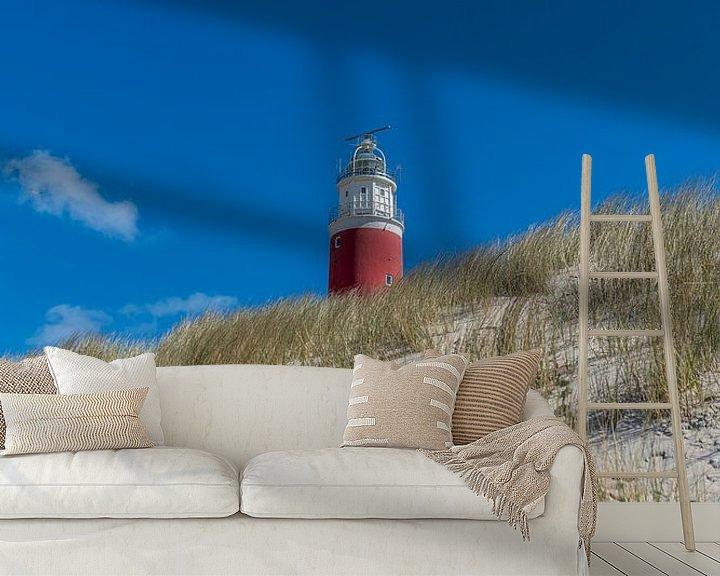 Sfeerimpressie behang: Vuurtoren Texel overdag rechtop van Texel360Fotografie Richard Heerschap