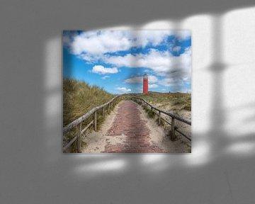 Vuurtoren Texel overdag van Texel360Fotografie Richard Heerschap