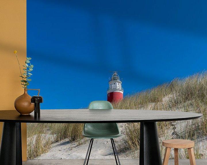 Sfeerimpressie behang: Vuurtoren Texel overdag van Texel360Fotografie Richard Heerschap