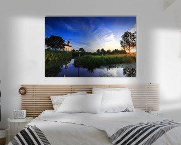 Sunset Rotterdam the Netherlands. van Stefan Vis