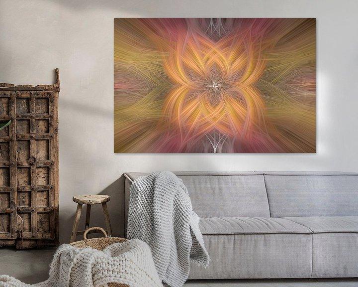 Sfeerimpressie: Digital abstract nr 8 van Leo Luijten