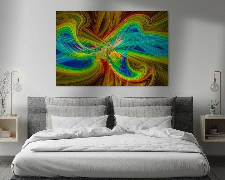 Sfeerimpressie: Digital abstract nr 9 van Leo Luijten