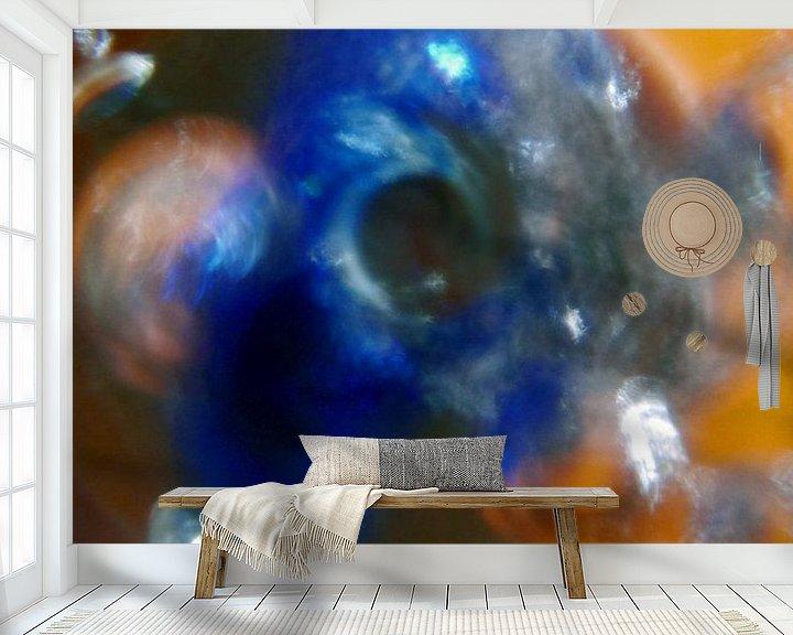 Sfeerimpressie behang: Abstractiebol 3 van Peter Norden
