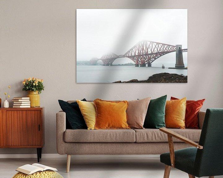 Sfeerimpressie: Forth Bridge in Schotland in de mist van Niels Eric Fotografie