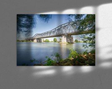 Eisenbahnbrücke bei Den Bosch von Mark Bolijn