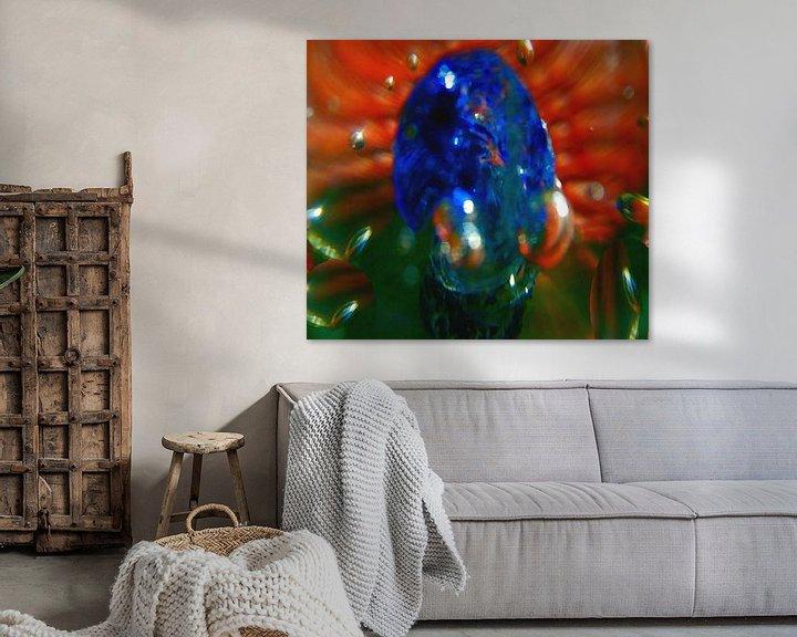 Sfeerimpressie: abstractie-4 van Peter Norden