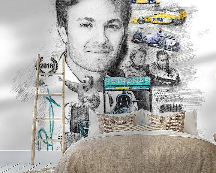 Beispiel fototapete: Nico Rosberg von Theodor Decker
