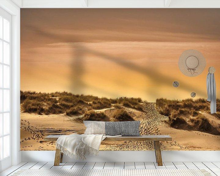 Sfeerimpressie behang: Het pad naar het strand van Rik Verslype