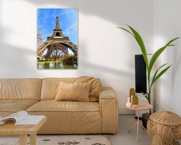 Vijver onder de Eiffeltoren van Dennis van de Water