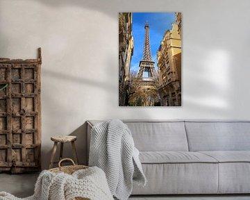 Eiffeltoren Parijs vanuit de wijk van Dennis van de Water
