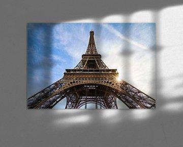 Eiffeltoren Parijs wide van Dennis van de Water