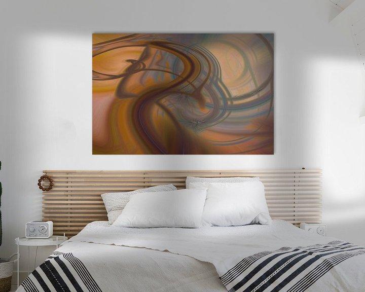 Sfeerimpressie: Digital abstract nr. 10 van Leo Luijten