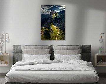 De hanekam berg in Zwitserland