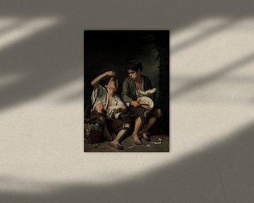 Bartolomé Murillo, Etern von Trauben und Melonen - 1645, München von Atelier Liesjes