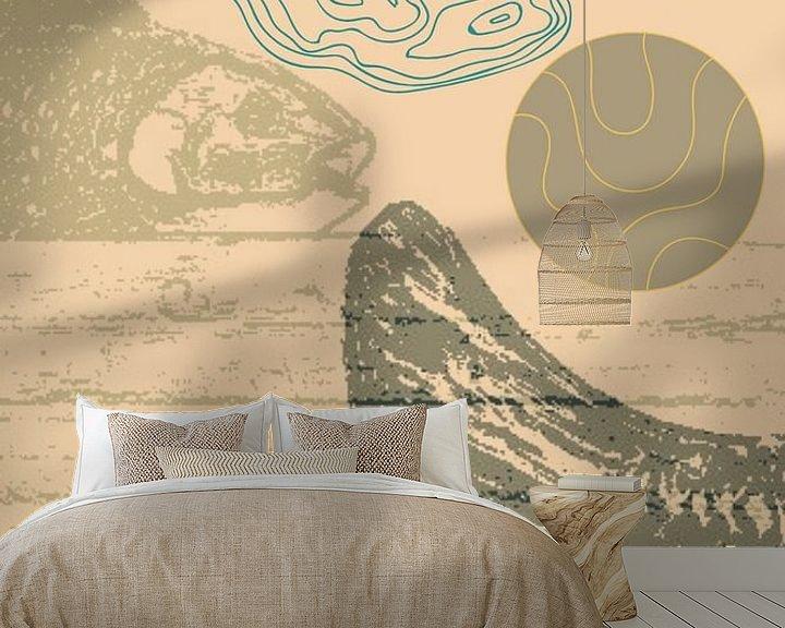 Sfeerimpressie behang: Something's Fishy van Susan Stiletti