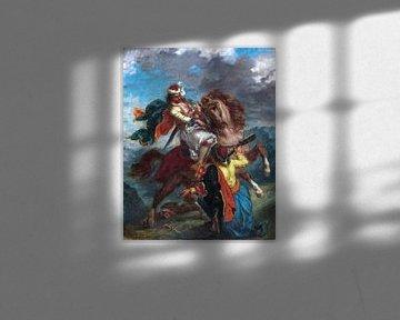 Eugène Delacroix, ein Türke kapituliert vor einem griechischen Reiter - 1856