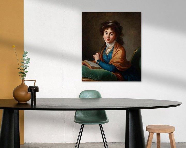 Beispiel: Porträt von Natalia Sacharowna Kolitschewa, geborene Hitrowo, Elisabeth Louise Vigée-Lebrun