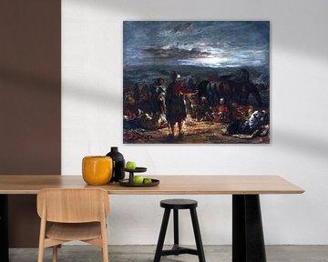 Eugène Delacroix, Ein arabisches Lager bei Nacht - 1863
