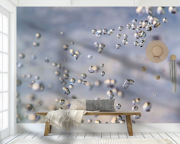Sfeerimpressie behang: Druppels bevroren in de tijd van FotoSynthese