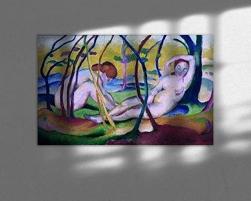 Franz Marc, Nackt unter Bäumen, 1911
