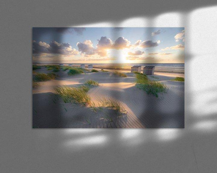 Sfeerimpressie: Rise (duinen Oostkapelle) van Thom Brouwer