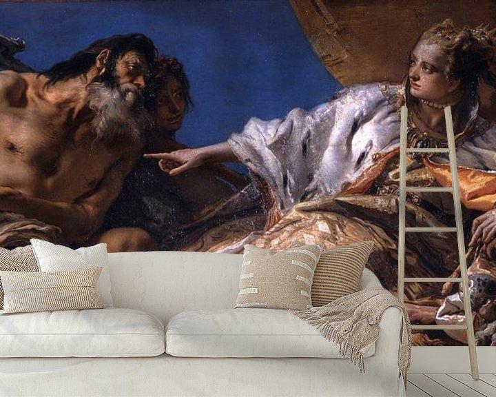 Sfeerimpressie behang: Giambattista Tiepolo, Neptunus biedt geschenken aan Venetië - 1745-1750 van Atelier Liesjes