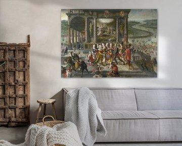 Hans Vredeman de Vries, Allegorie der Wiederbelebung Antwerpens nach dem Sieg von Alexander Farnese,