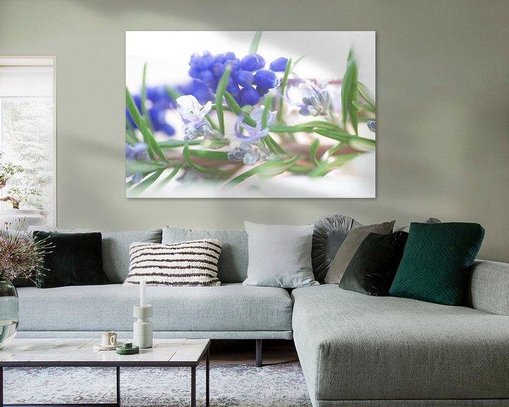 Beispiel: Zarte blau töne des Frühjahrs aus Blüten und Blättern von Tanja Riedel