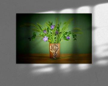 Bodil Marie Nielsen vaas met graan en bloemen van Jenco van Zalk