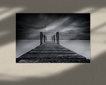 Gerüste in Schwarz und Weiß von Jos Reimering
