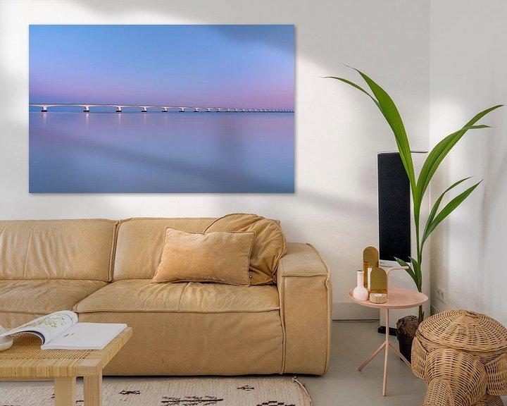 Sfeerimpressie: De Zeelandbrug bij zonsopkomst van Sander Grefte